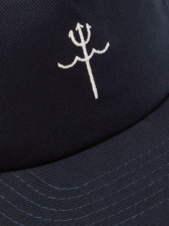 Mollusk Embroidered Cotton-Twill Baseball Cap