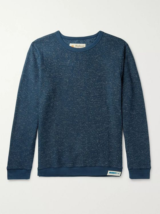 Mollusk Mélange Fleece-Back Cotton-Blend  Sweatshirt