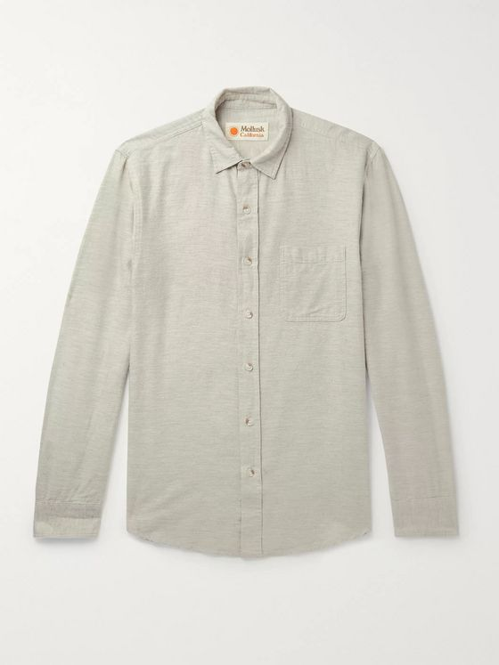 Mollusk Mélange Cotton Shirt