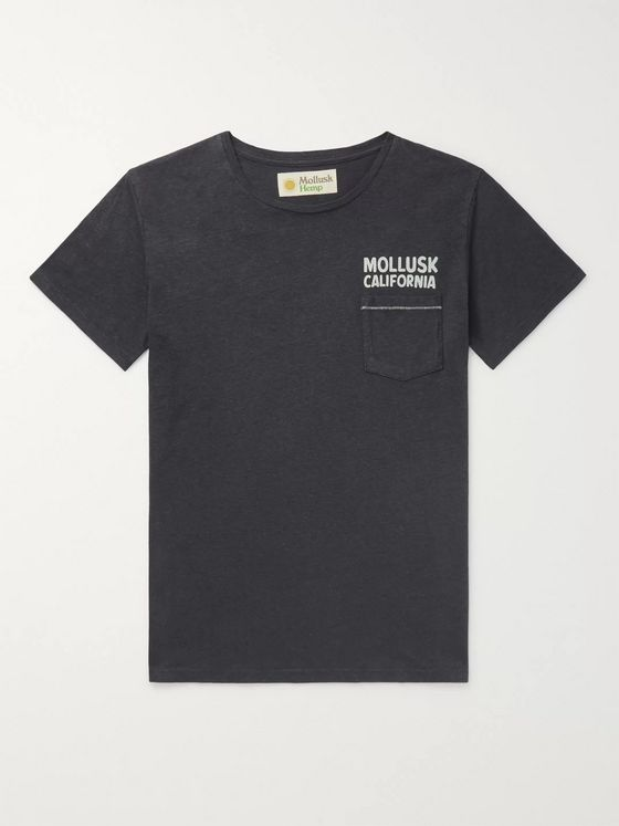 Mollusk Logo-Print Hemp and Cotton-Blend Jersey T-Shirt
