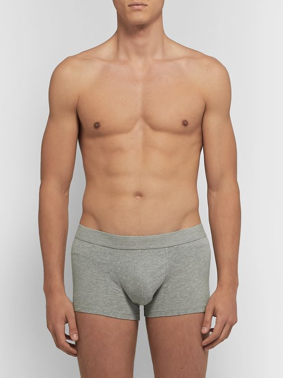 Sunspel Two-Pack Mélange Stretch-Cotton Jersey Boxer Briefs