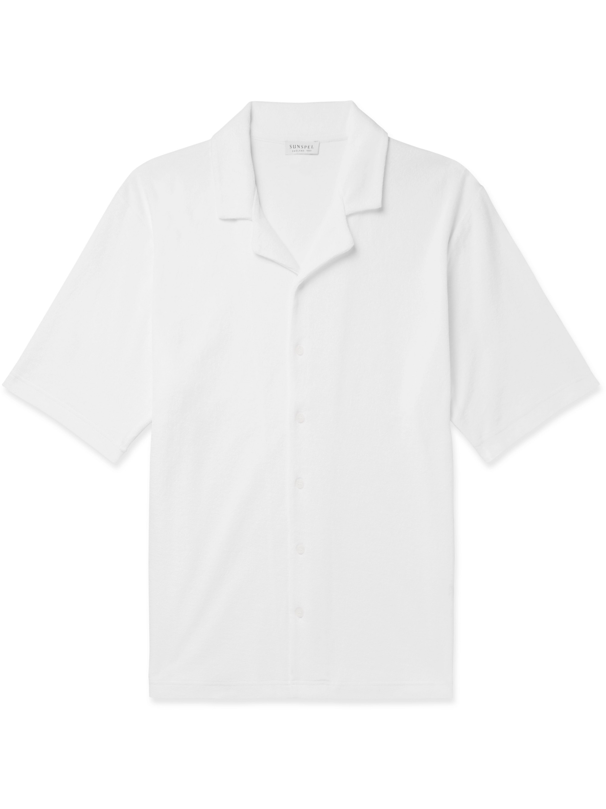 Sunspel Camp-Collar Cotton-Terry Shirt