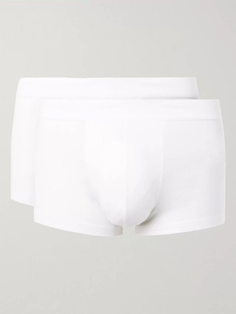 Sunspel Two-Pack Stretch-Cotton Boxer Briefs