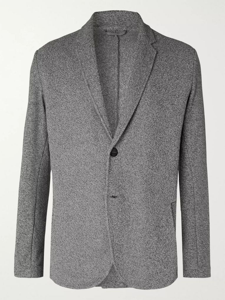 Hamilton and Hare Grey Travel Mélange Cotton Blazer