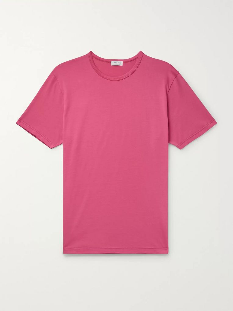 Sunspel Pima Cotton-Jersey T-Shirt