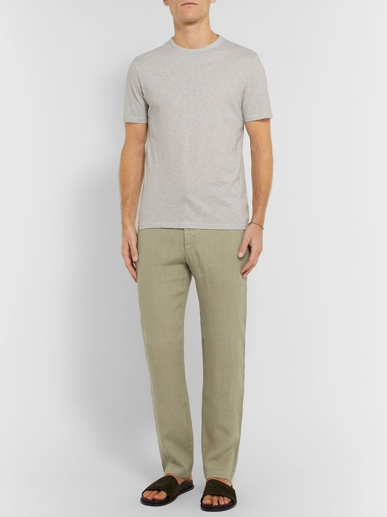 120% Garment-Dyed Linen Drawstring Trousers