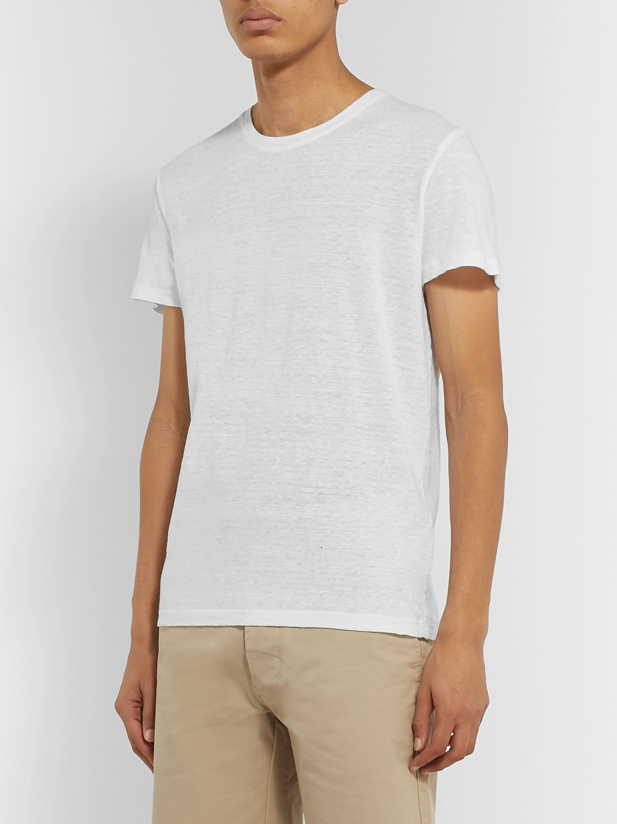 120% Slim-Fit Garment-Dyed Linen T-Shirt