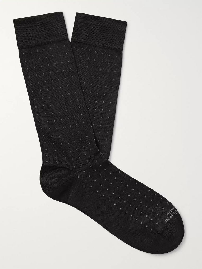 Marcoliani Pin-Dot Modal-Blend Socks