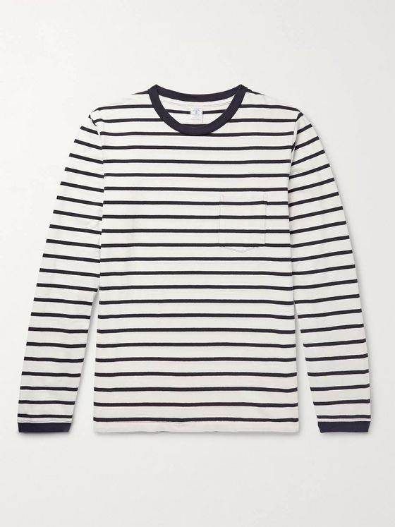 Velva Sheen Striped Cotton-Jersey T-Shirt