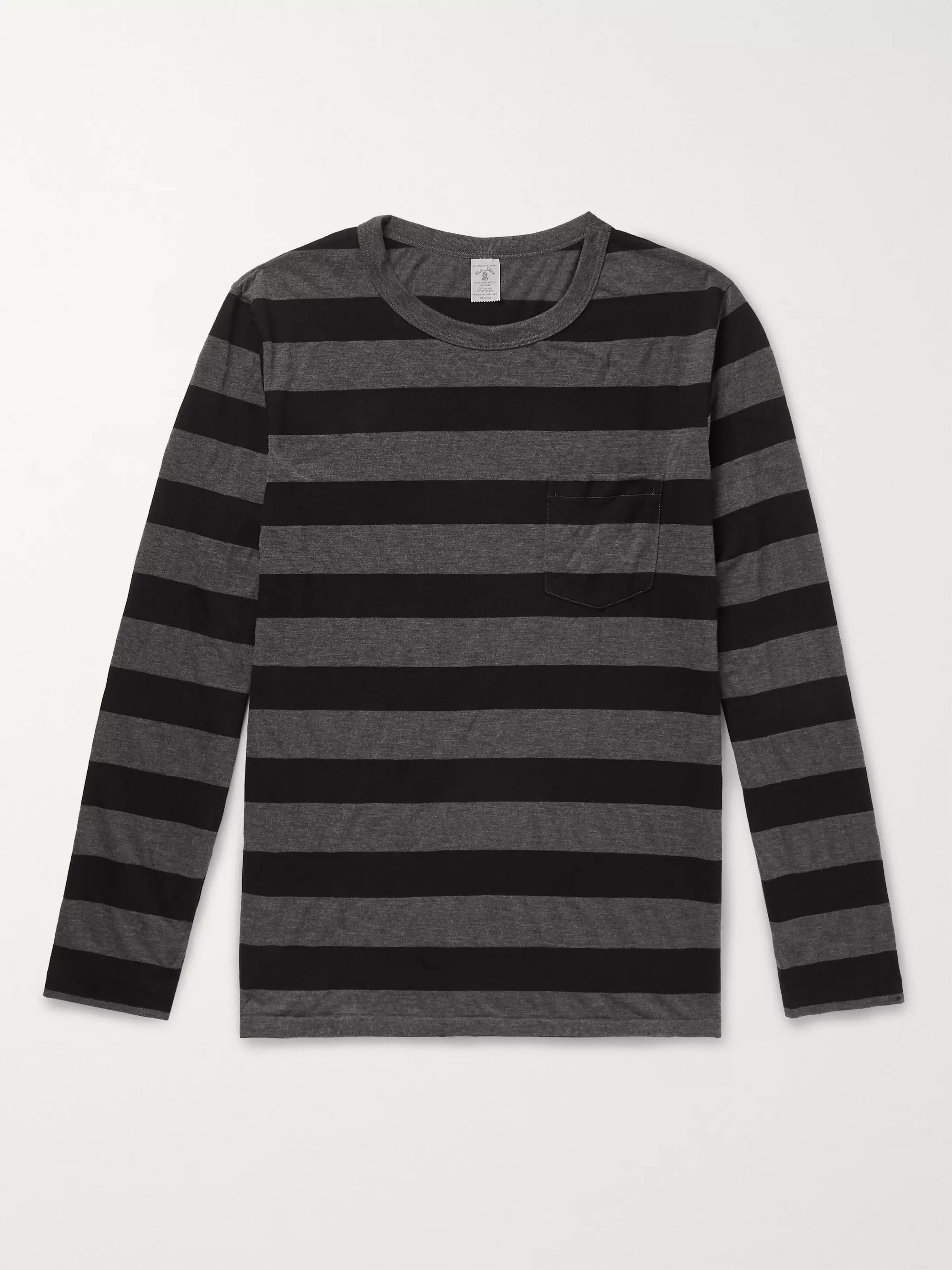 Velva Sheen Striped Cotton-Blend Jersey T-Shirt