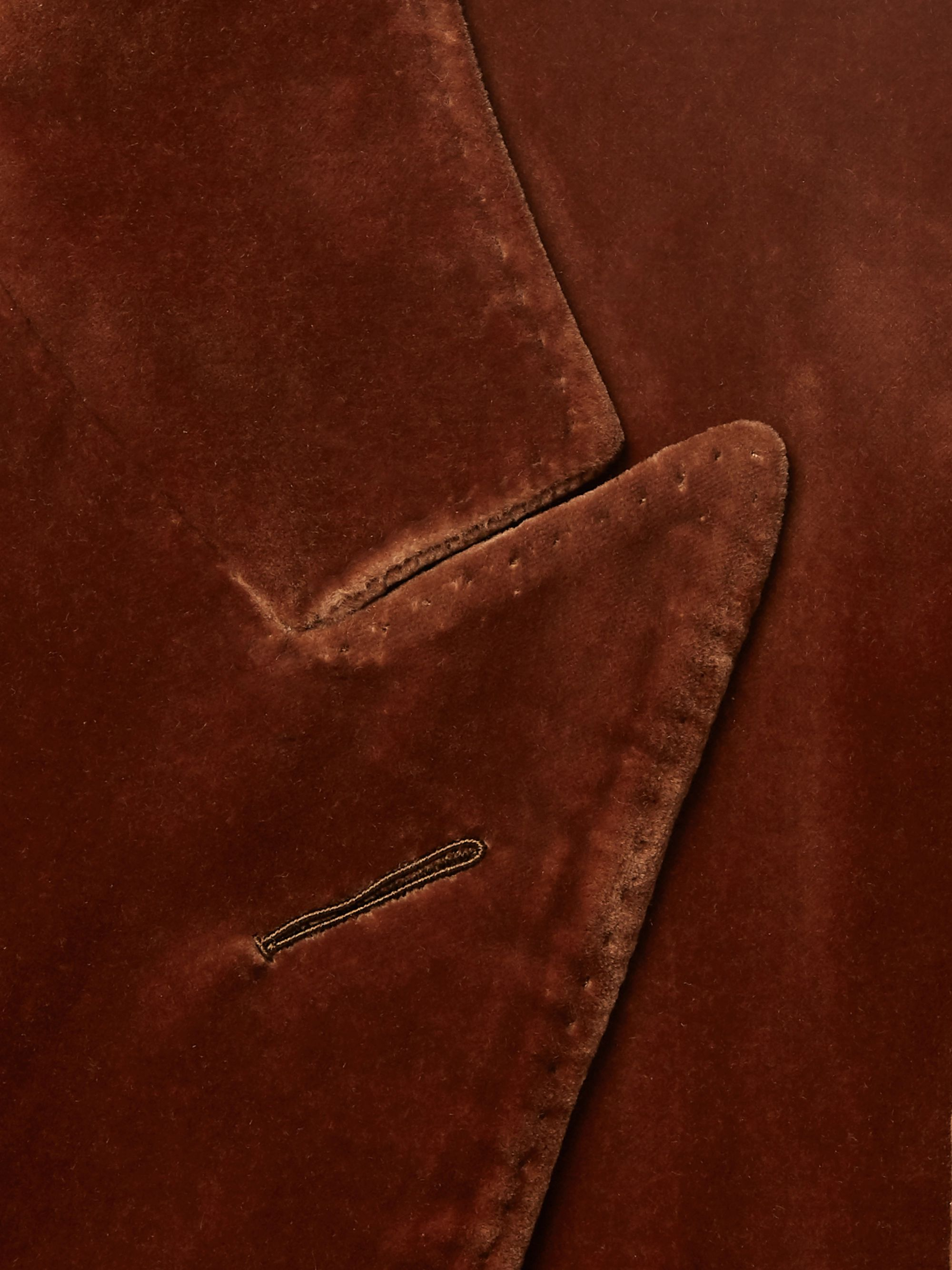 TOM FORD Rust Atticus Slim-Fit Cotton-Velvet Blazer