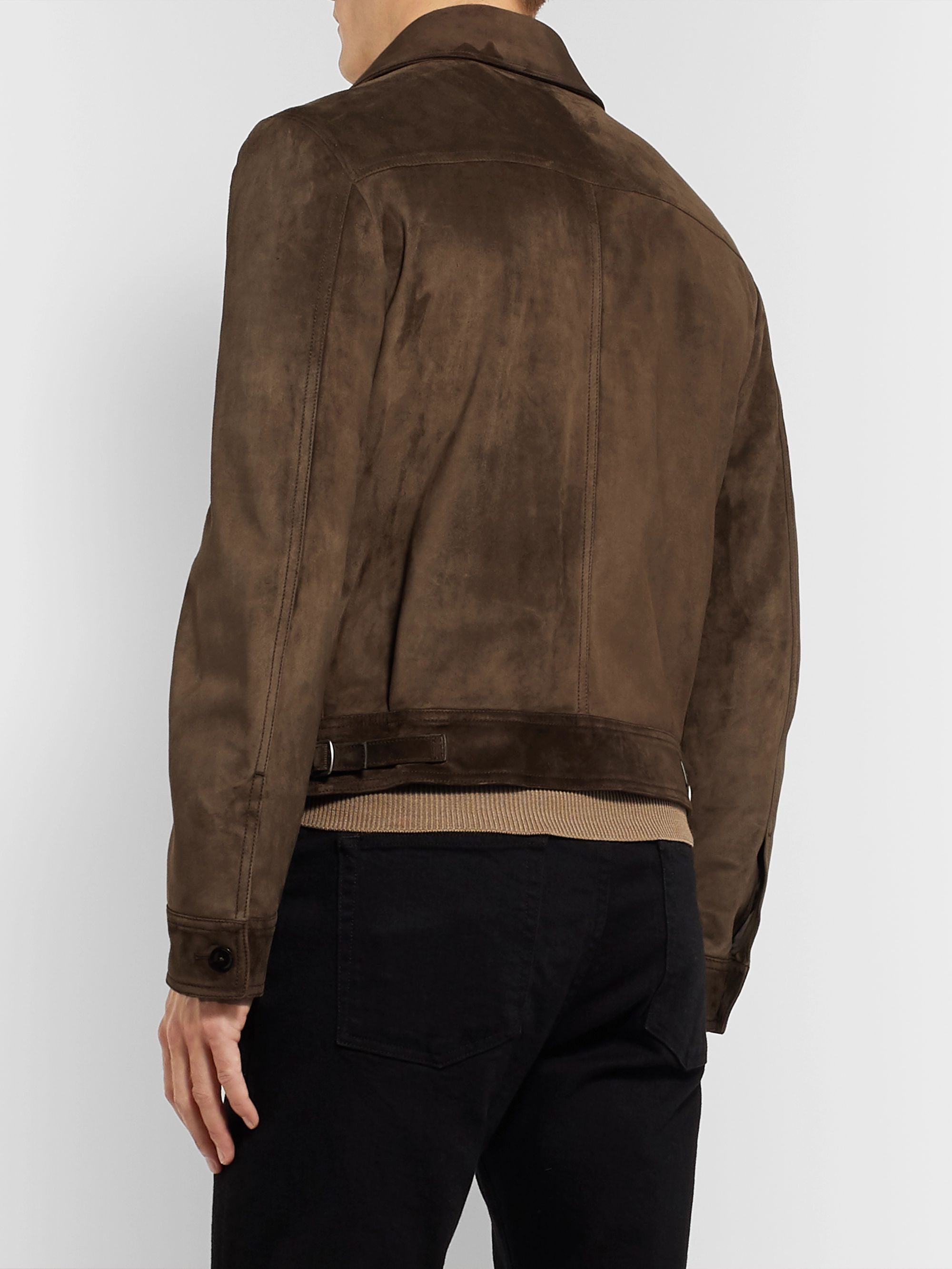 TOM FORD Suede Blouson Jacket