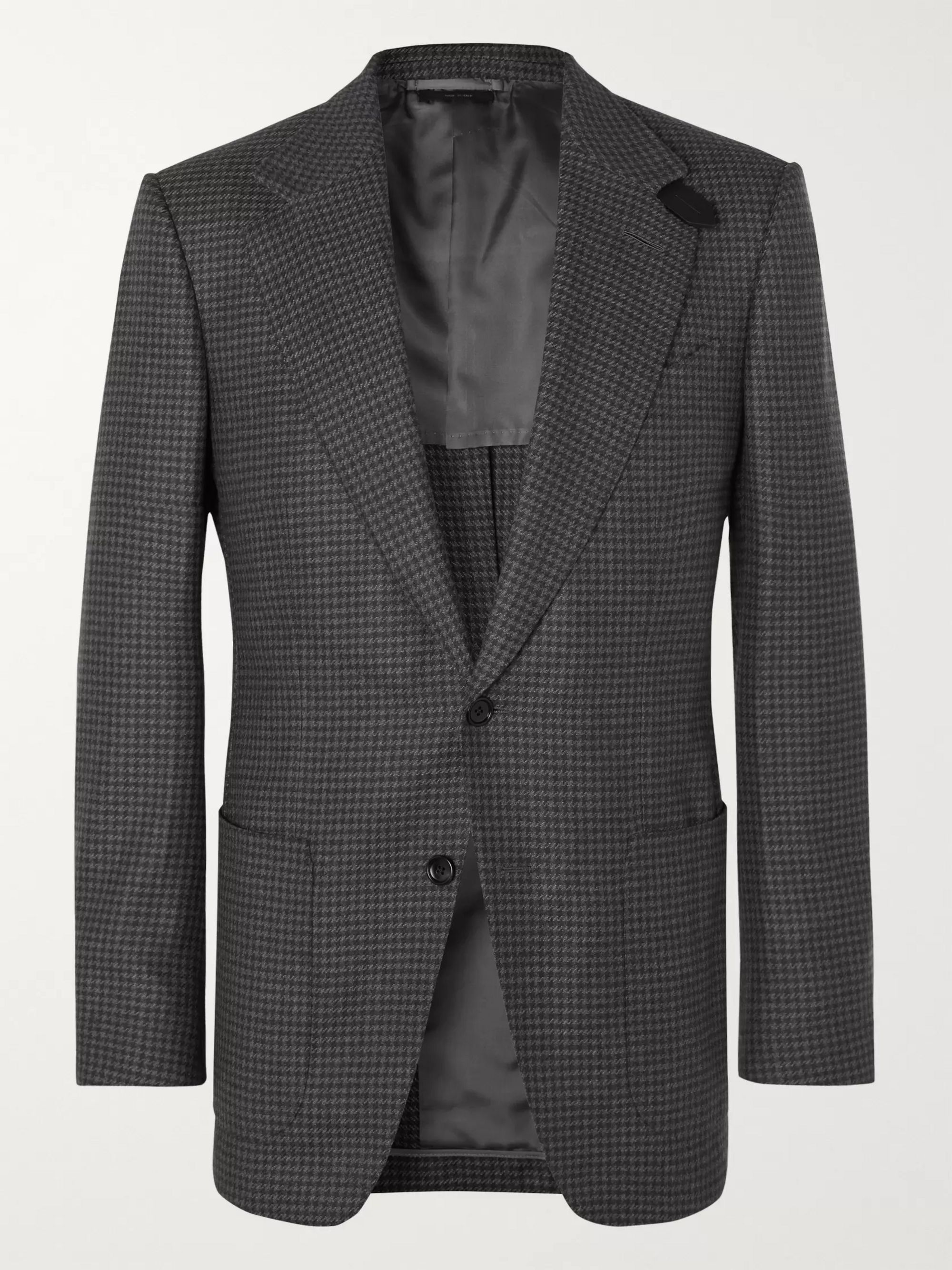 grey-atticus-slim-fit-unstructured-houndstooth-wool-blazer by tom-ford