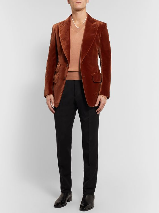 TOM FORD Slim-Fit Silk and Wool-Blend Sweater