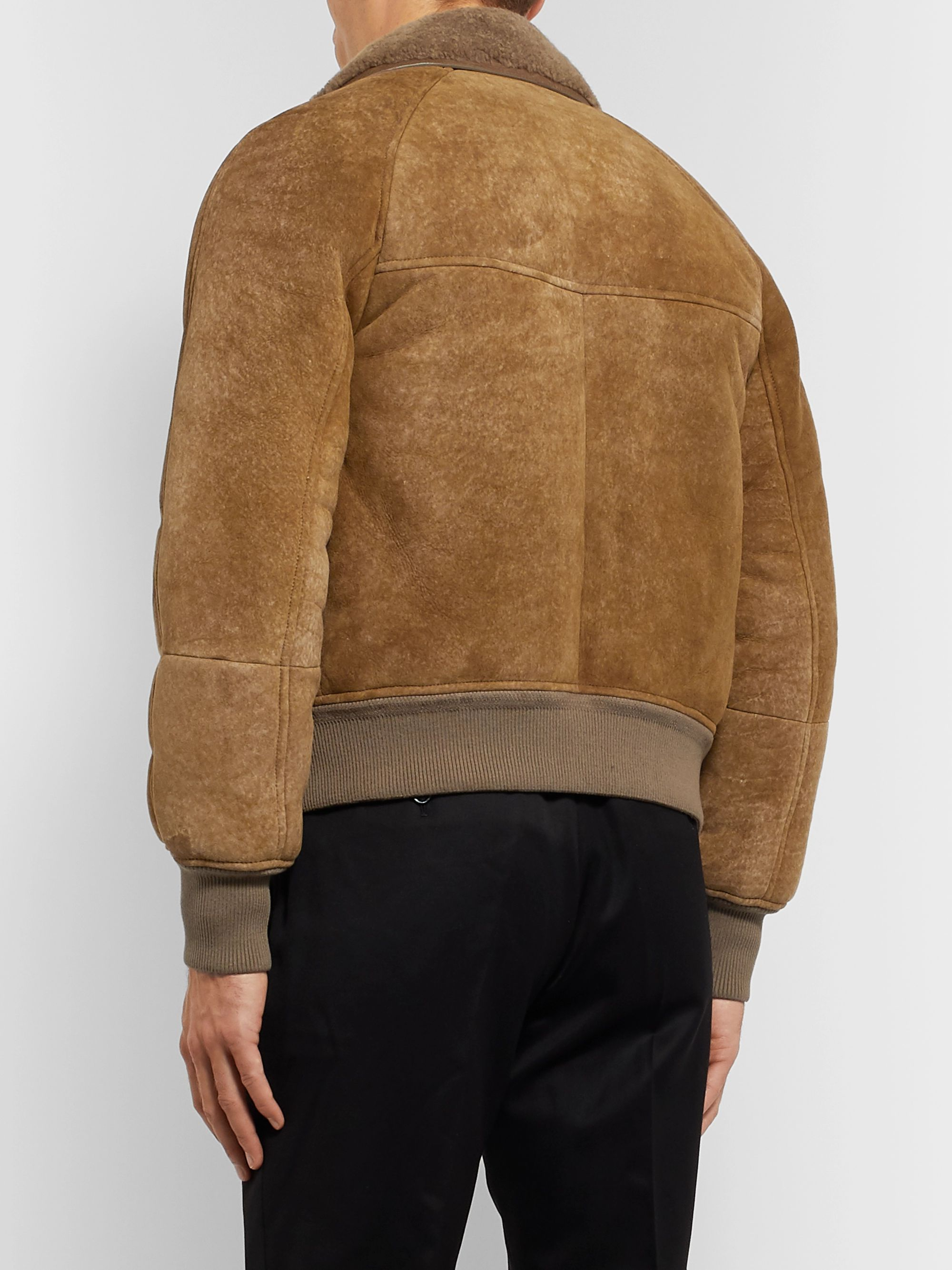 TOM FORD Shearling Bomber Jacket