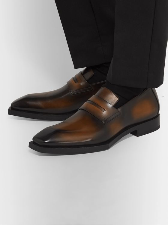 Berluti Andy Edge Venezia Leather Loafers
