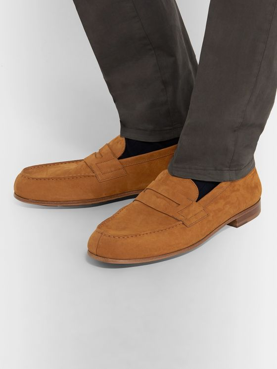 J.M. Weston 281 Le Moc Suede Loafers