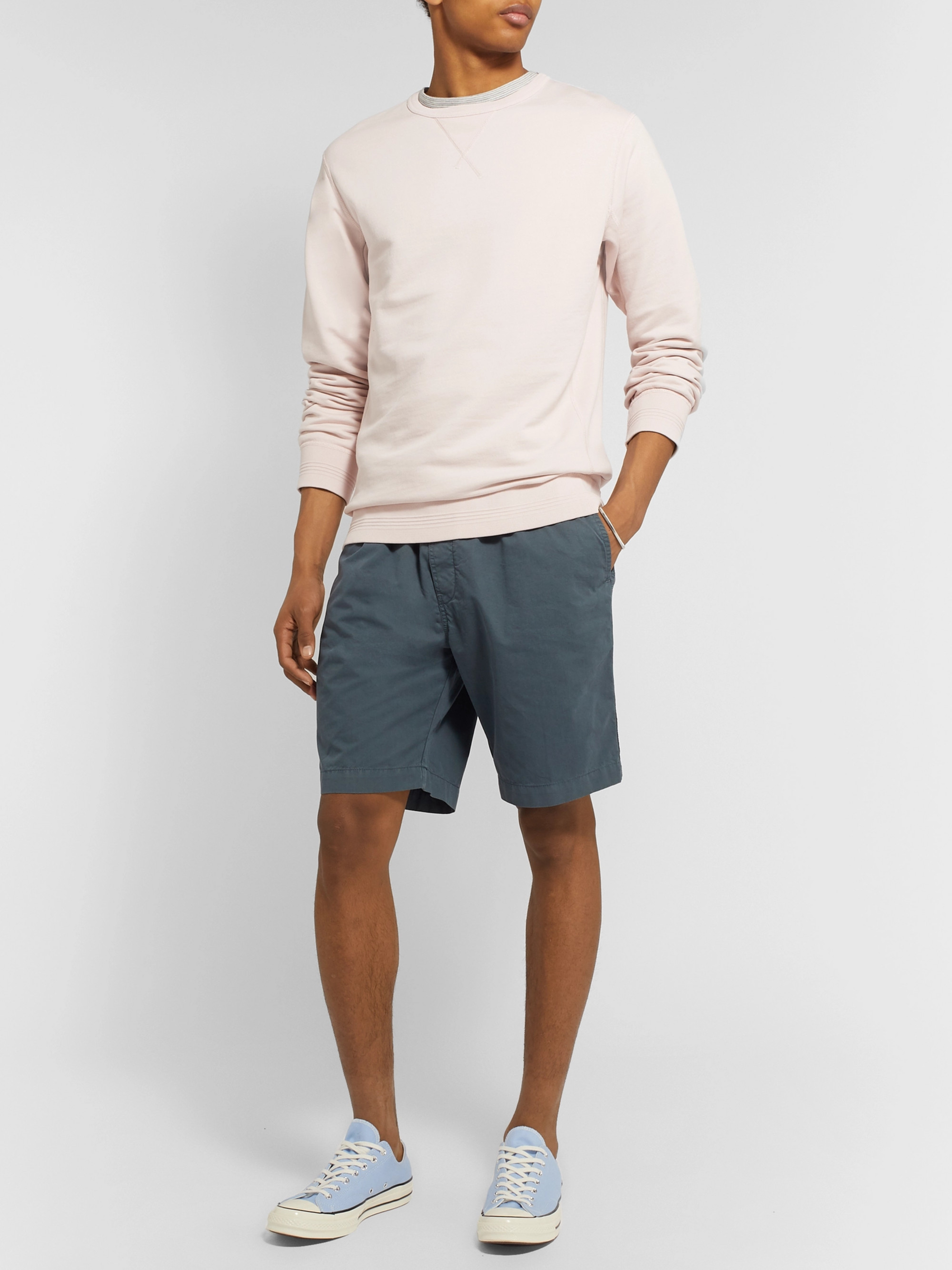 Albam Shoreway Cotton-Twill Drawstring Shorts