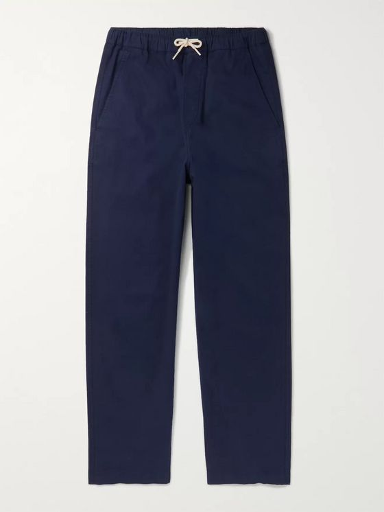 Albam Cotton-Blend Twill Drawstring Trousers