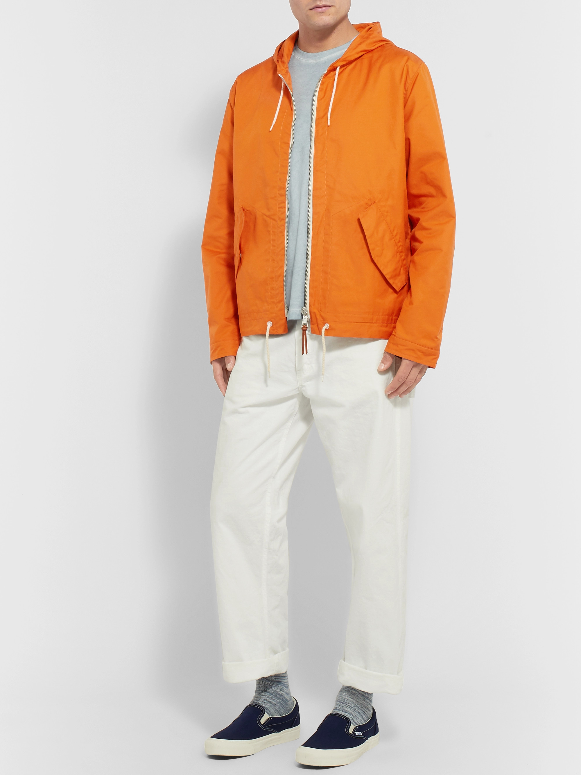 Albam Cotton-Blend Hooded Jacket