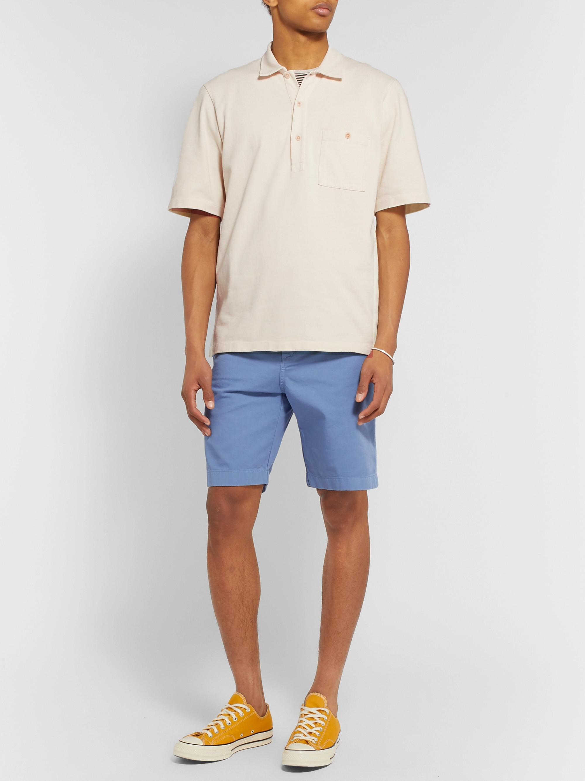 Albam Cotton-Jersey Polo Shirt