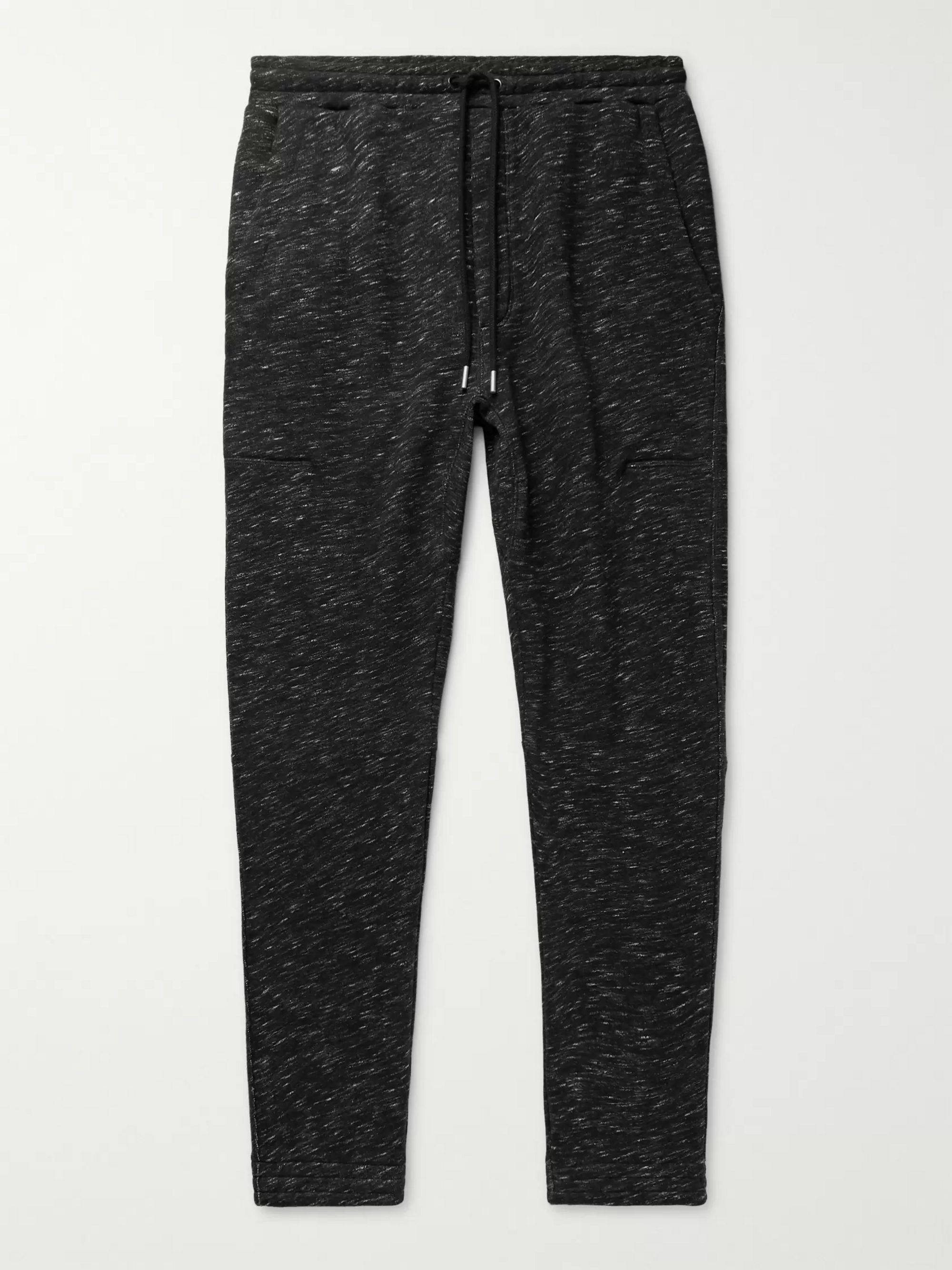 Slim Fit Tapered Mélange Loopback Cotton Jersey Sweatpants by Alex Mill