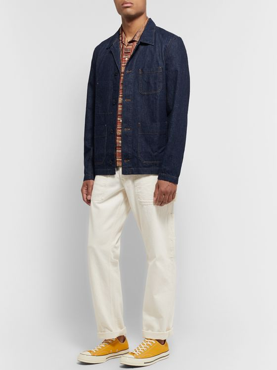 Alex Mill Indigo-Dyed Nep Denim Overshirt