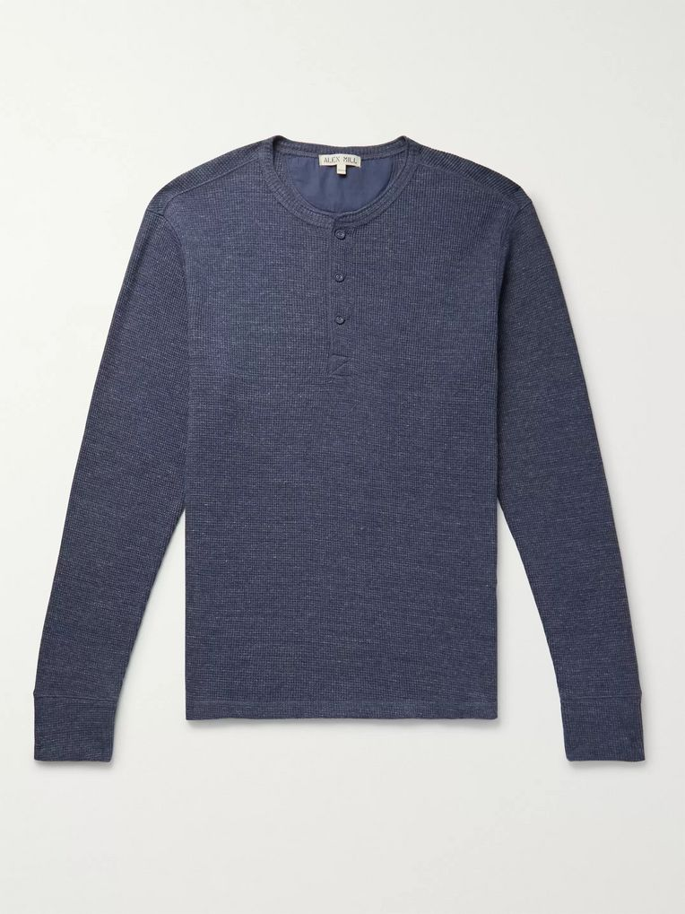 Alex Mill Waffle-Knit Cotton-Jersey Henley T-Shirt