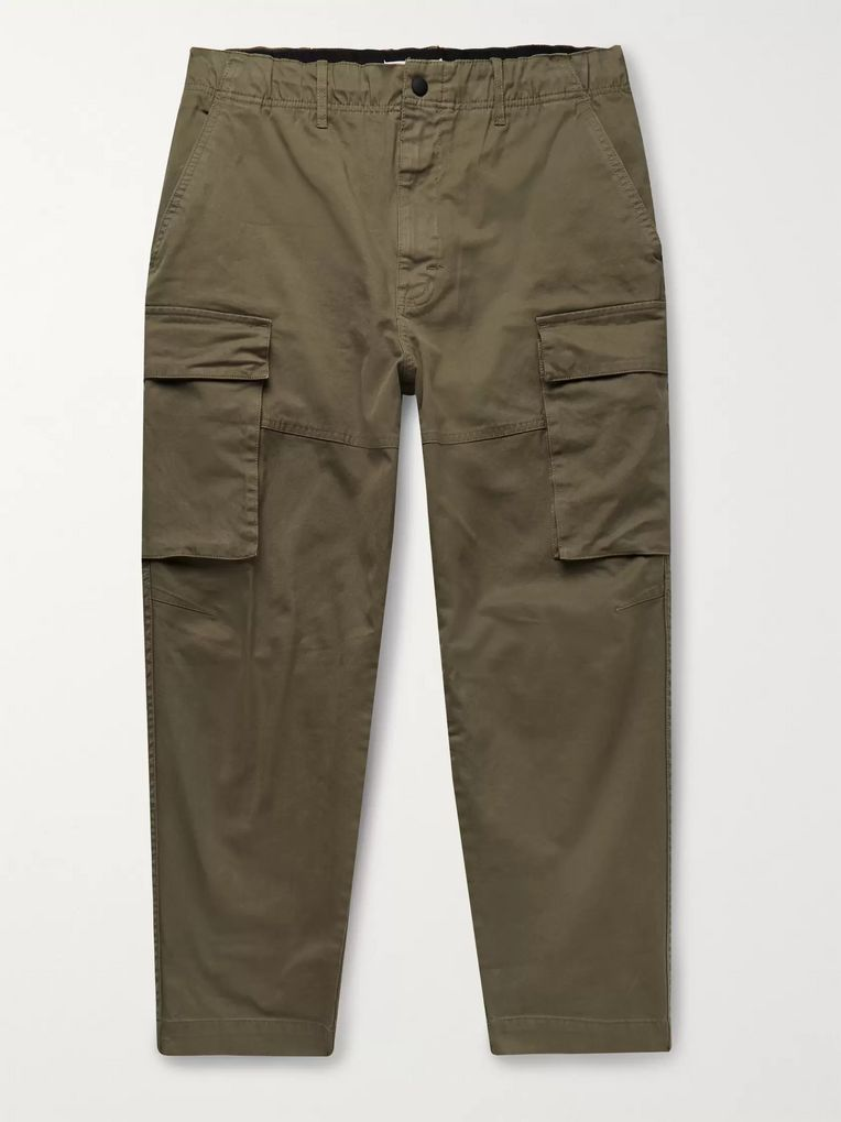 Alex Mill City Cropped Cotton-Blend Twill Cargo Trousers