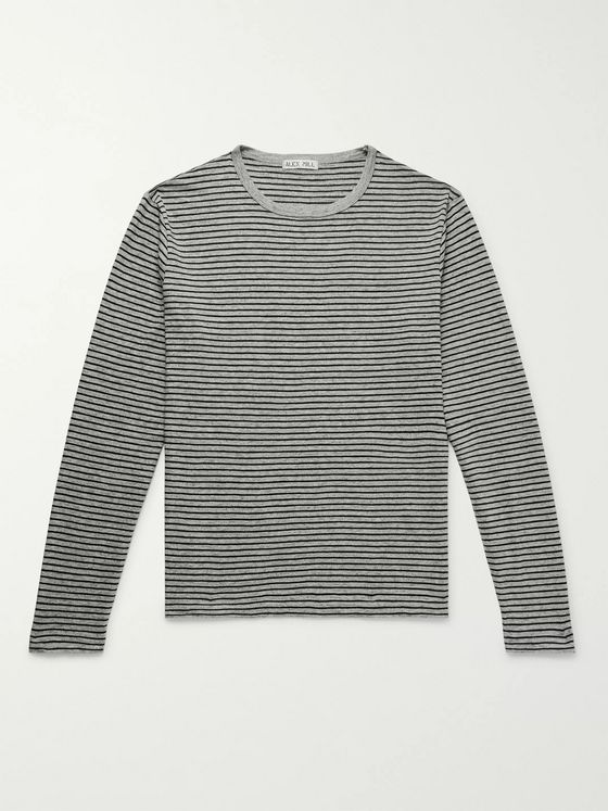 Alex Mill Striped Slub Cotton-Jersey T-Shirt