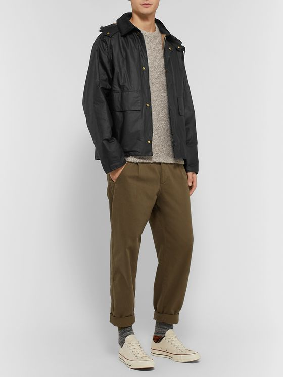 Barbour + Margaret Howell Waxed-Cotton Hooded Jacket