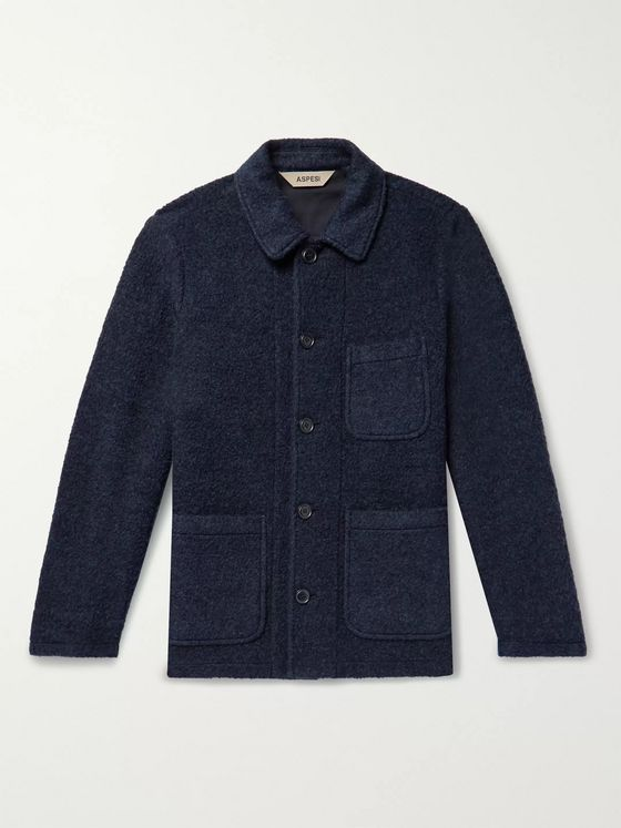 Aspesi Brushed Wool and Cotton-Blend Coat