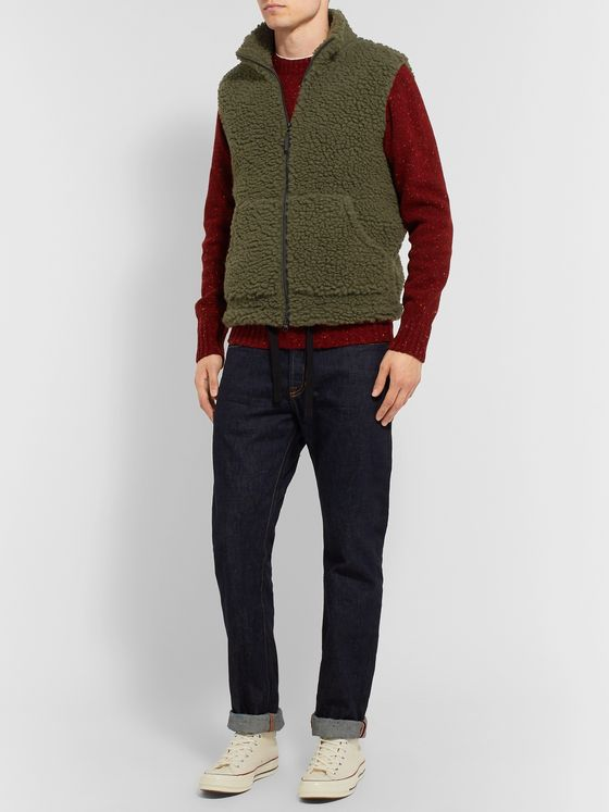 Aspesi Wool-Blend Fleece Gilet