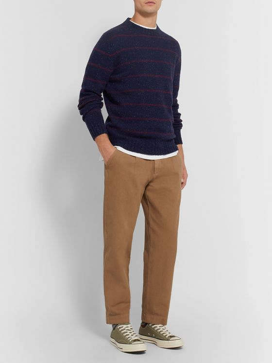 Aspesi Striped Donegal Wool Sweater