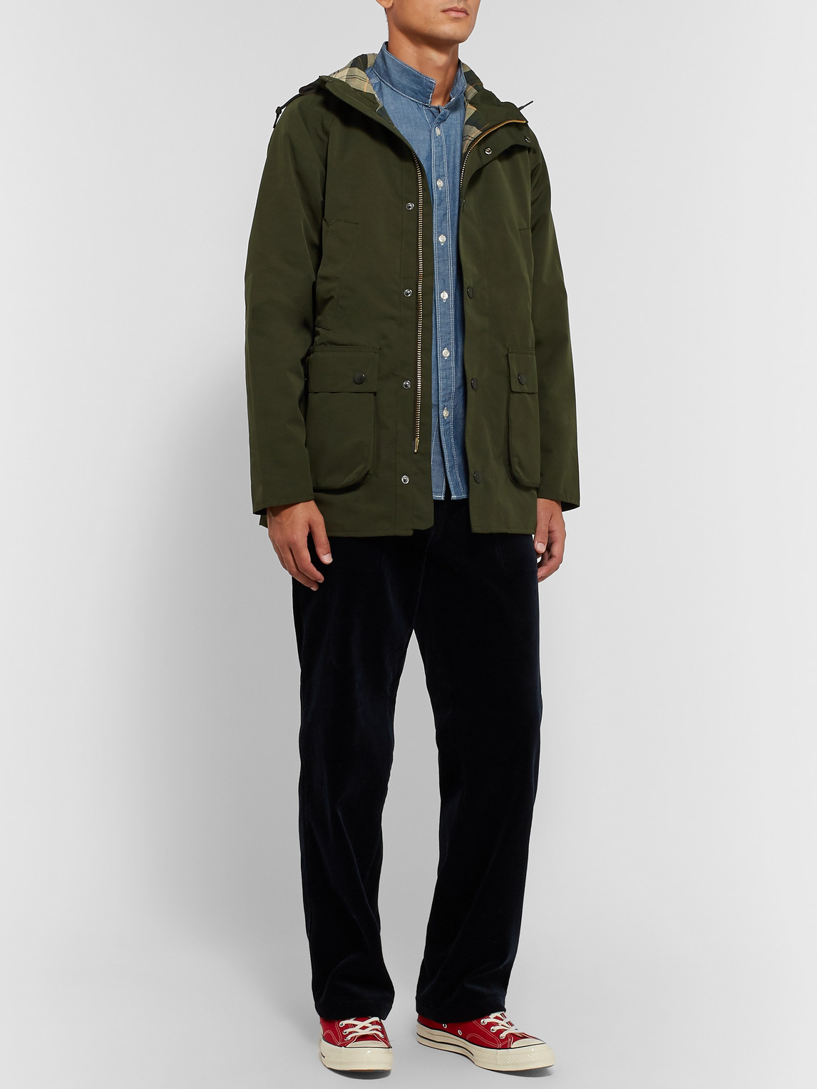 Barbour White Label - White Label Bedale Slim-fit Hooded Shell Jacket - Green - L - Men
