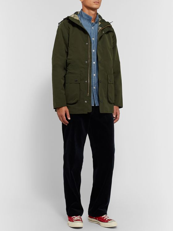 Barbour White Label Bedale Slim-Fit Hooded Shell Jacket
