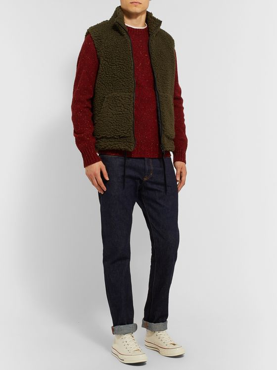 Aspesi Slim-Fit Donegal Wool Sweater