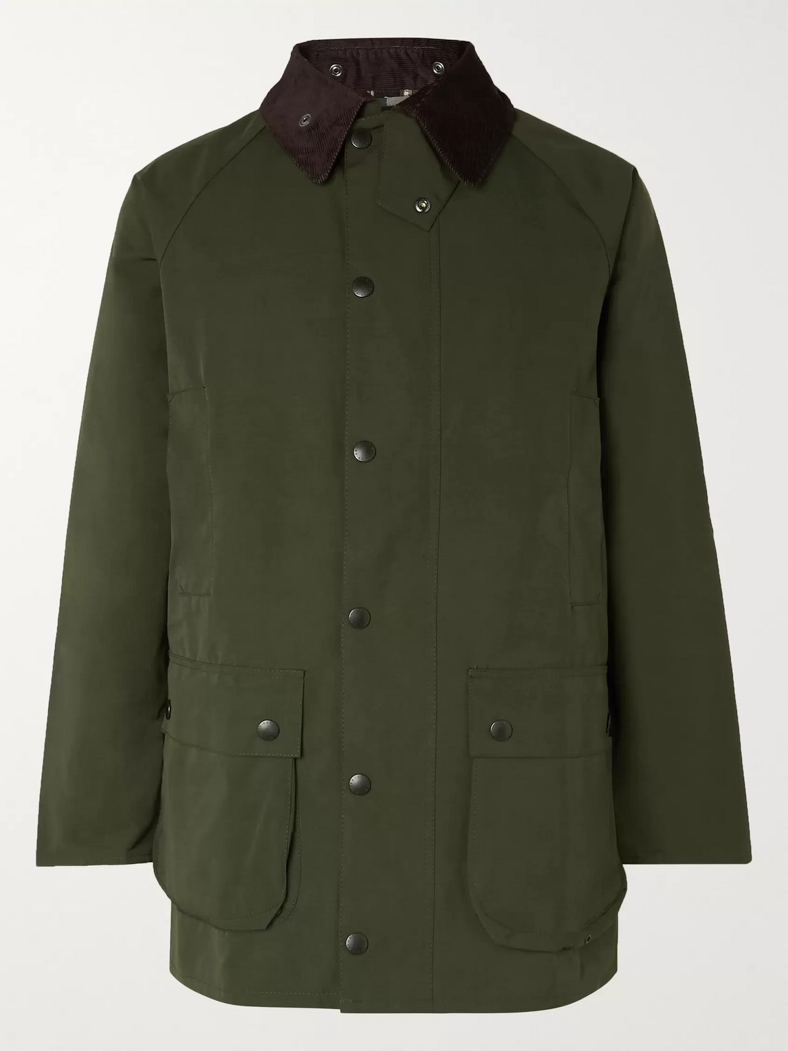 Barbour White Label - White Label Bedale Corduroy-trimmed Shell Jacket - Green - Xl - Men