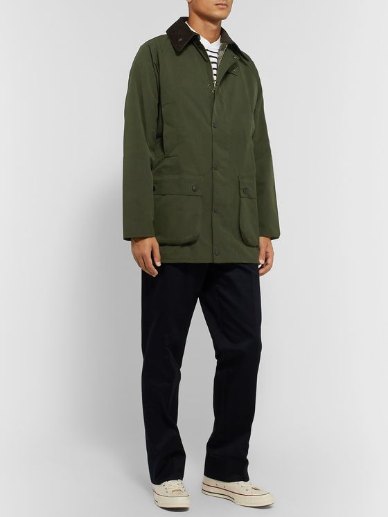 Barbour White Label White Label Beaufort Corduroy-Trimmed Shell Jacket