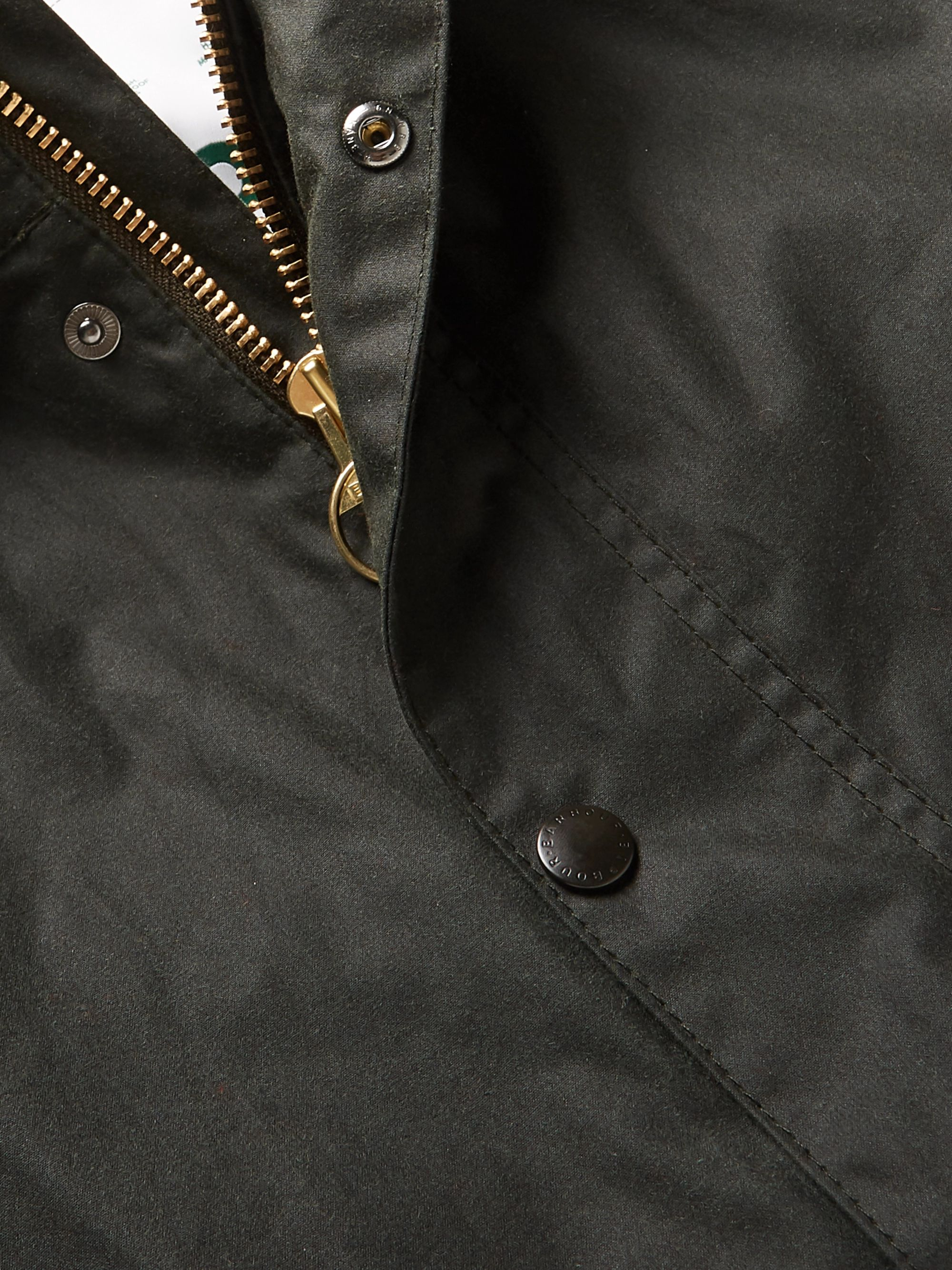 Barbour White Label White Label Hooded Waxed-Cotton Jacket
