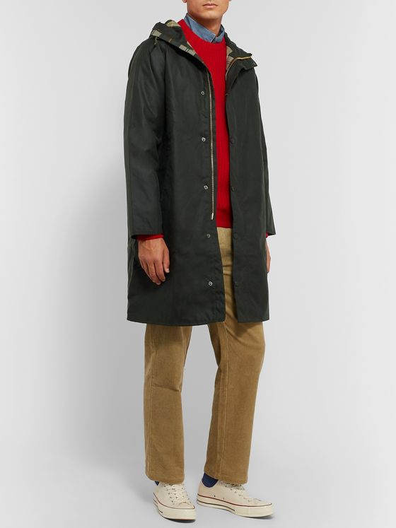 Barbour White Label Hooded Waxed-Cotton Jacket