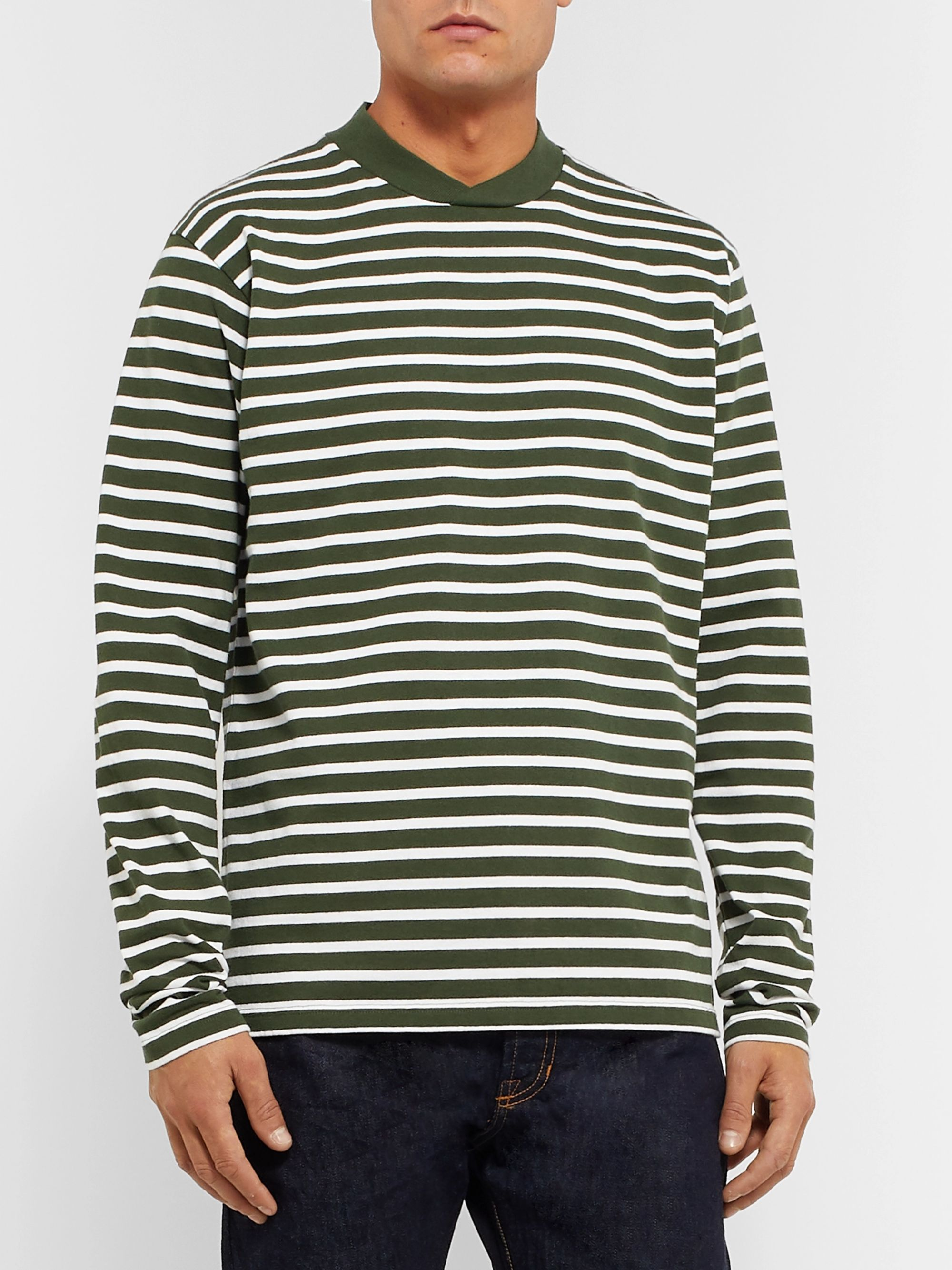BARBOUR WHITE LABEL White Label Lanercost Striped Cotton-Jersey T-Shirt