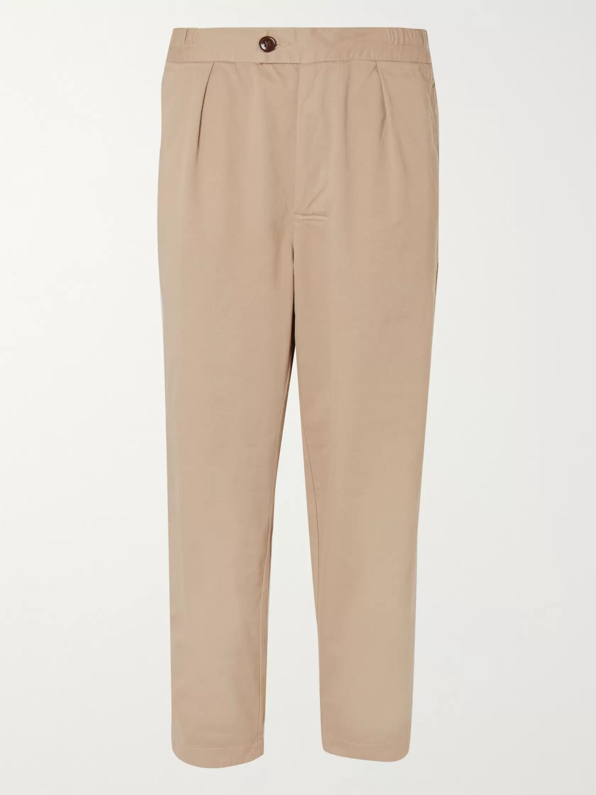BARBOUR WHITE LABEL White Label Tapered Cotton-Twill Drawstring Trousers