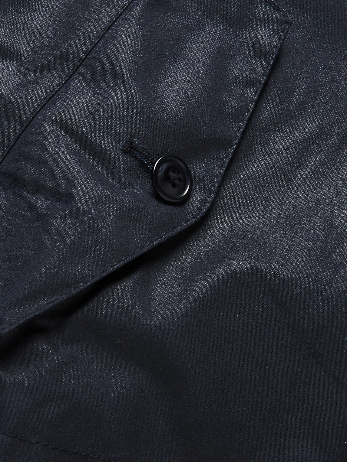 Barbour White Label - White Label Endurance Hooded Corduroy-trimmed Waxed-cotton Jacket - Blue - M - Men