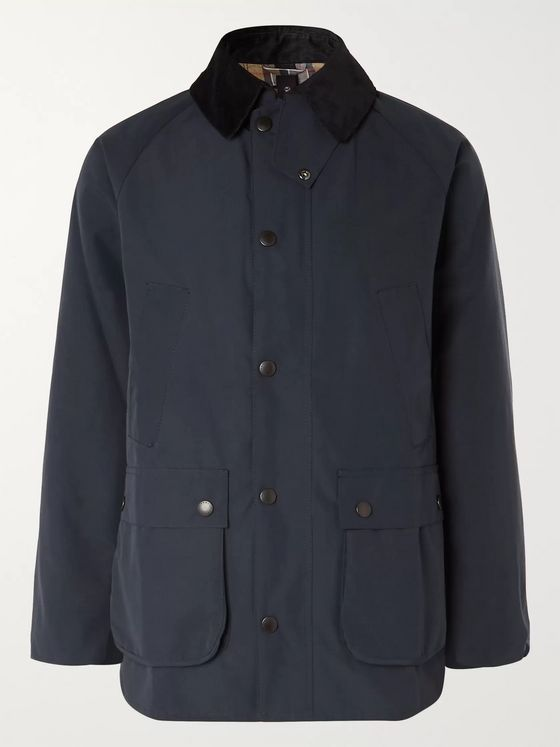 Barbour White Label White Label Bedale Corduroy-Trimmed Shell Jacket
