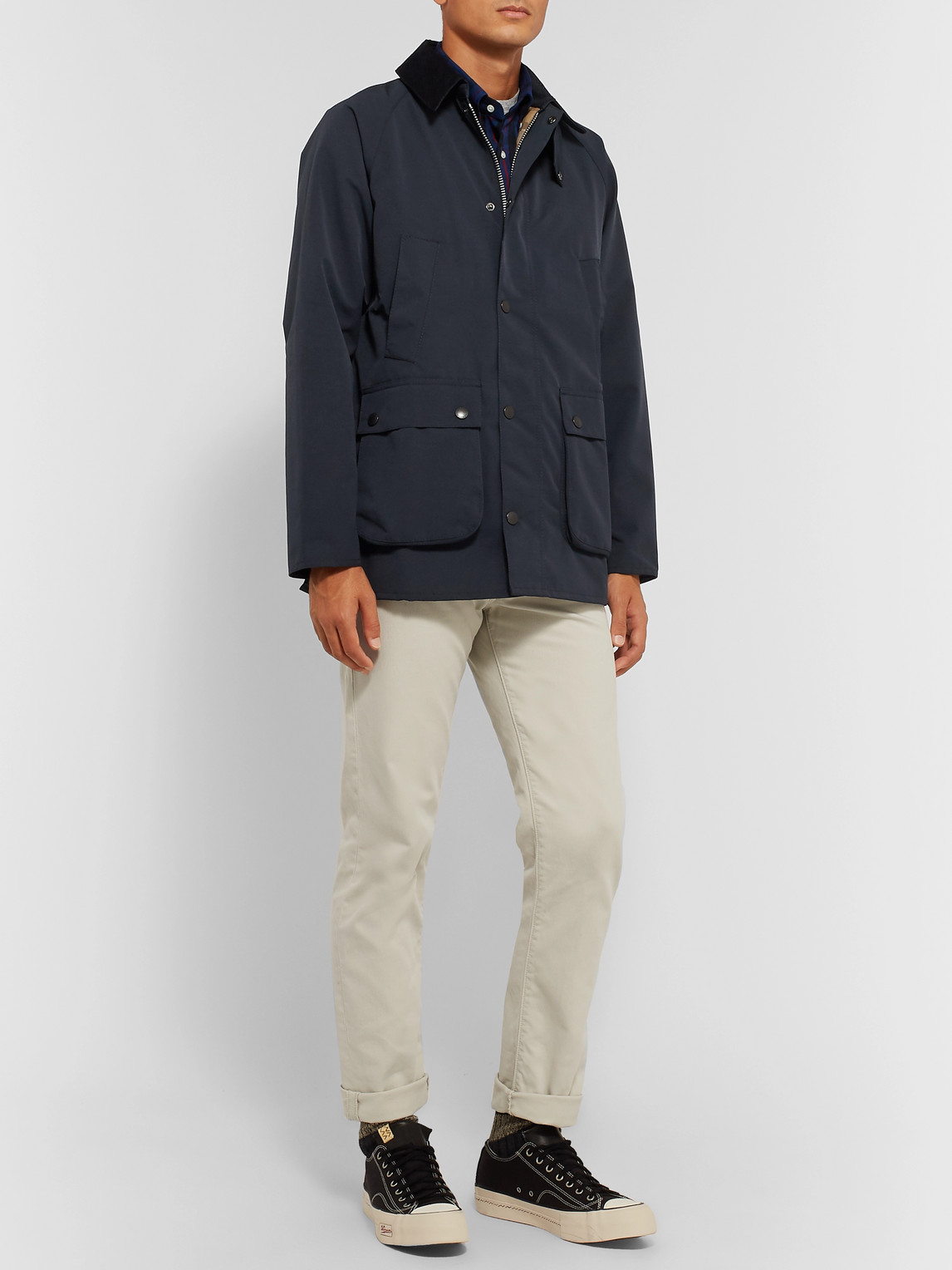 Barbour White Label - White Label Bedale Corduroy-trimmed Shell Jacket - Blue - S - Men