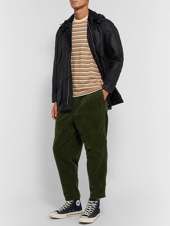 Barbour White Label White Label Tapered Cropped Cotton-Blend Corduroy Trousers