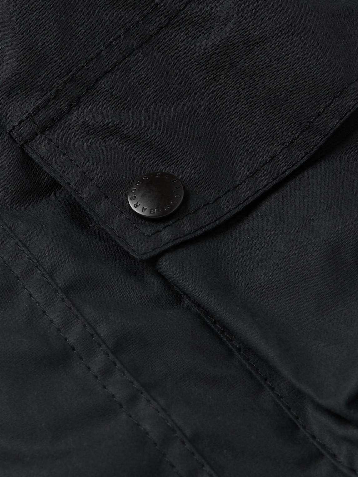 Barbour White Label - White Label Ursula Slim-fit Waxed-cotton Hooded Jacket - Blue - L - Men
