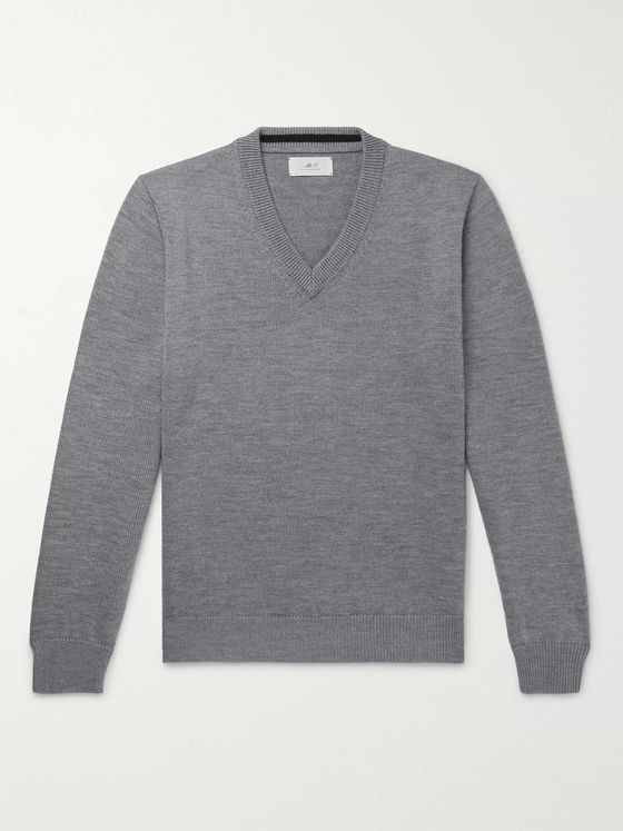 Mr P. Mélange Merino Wool Sweater