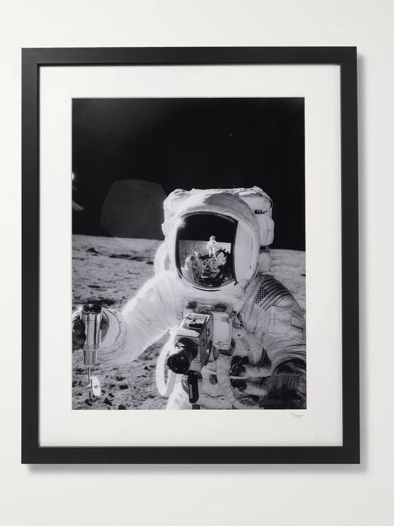 "Sonic Editions Framed 1969 Alan L. Bean on the Moon Print, 17"" x 21"""